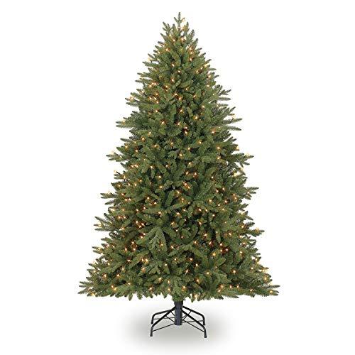 Evergreen Classics 6.5 Feet Pre-Lit Colorado Spruce Artificial Christmas Tree, Clear Lights (Trees Artificial Quick Set Christmas)