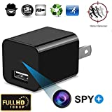 Hidden Spy Camera - 1080P HD Mini USB Wall Charger and Surveillance Camera With Motion Detection - Mini Nanny Pet Monitoring Camera Charger Adapter for Indoor Home Office Security