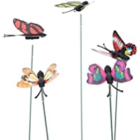 50 unids Artificial Decorativo Mariposa Césped Jardín Decoración