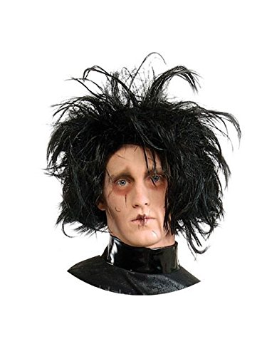 Edward Scissorhands Adult Costume Wig, Black, One Size]()