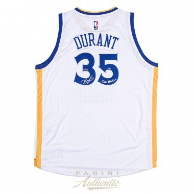 KEVIN DURANT Autographed White Golden State Warriors Swingman Jersey with