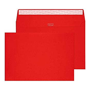 Image of Booklet Envelopes Blake Creative Color, Bright Red Invitation Envelopes, 6 x 9 Inches, Fire Engine Red, 80lb Paper, Peel & Seal (306-76) - Pack of 500