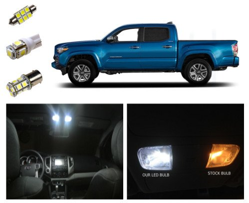 2016+ Toyota Tacoma LED Lighting Interior Package Kit White (9 pieces) (White Led Interior Package compare prices)