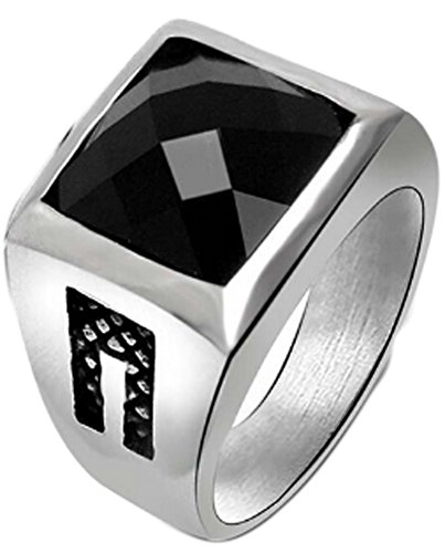 Chariot Trading - Stainless Steel Mens Rings Red Black Rings (SIZE : 10) (Belly Dance Costumes Clearance)