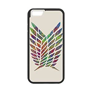 iPhone 6 Plus 5.5 Inch Phone Case Black Attack on Titan F5105628