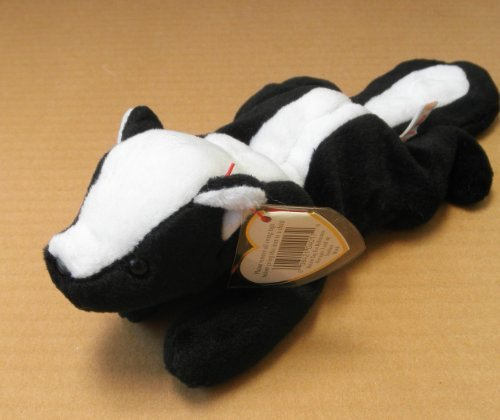 TY Beanie Babies Stinky the Skunk Stuffed Animal Plush Toy - 11 inches long from Ty Beanie