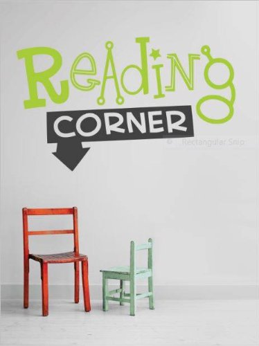 Decal – Vinyl Wall Sticker : Reading Corner Quote Home Living Room Bedroom Decor DISCOUNTED SALE ITEM - 22 Colors Available Size: 10 Inches X 20 Inches