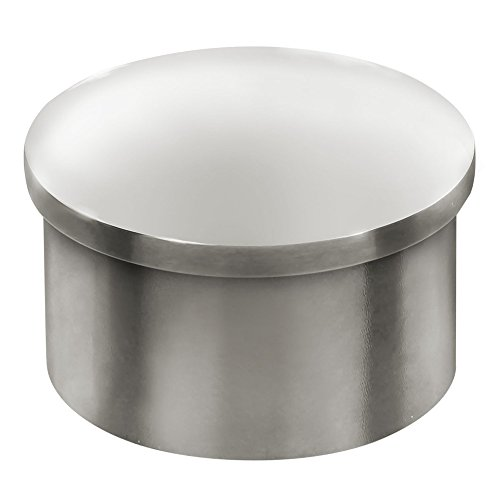 Lavi Industries 40-600/1H Polished Stainless Steel Flush End Cap 1-1/2