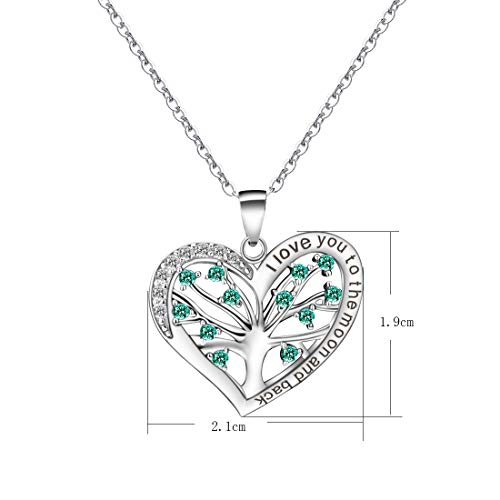 Tree of Life Heart Cubic Zirconia 925 Sterling Silver Chain & Pendant Necklace Party Mother's Birthd - http://coolthings.us