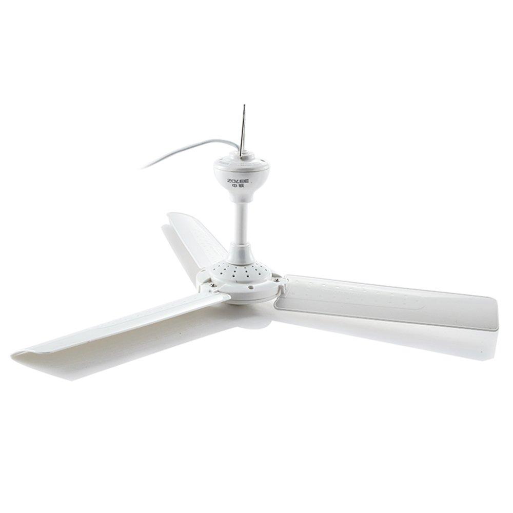 Fan -CivilWea CivilWeaEU Mini small electric fan/house ceiling fan/small ceiling fan 3 leaf/student dormitory mosquito net ceiling fan (Size : 600mm)