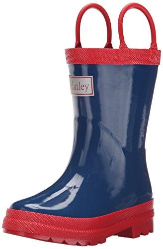 Hatley  Rainboots -Navy & Red, Jungen Stiefel Multicolor (Blue)
