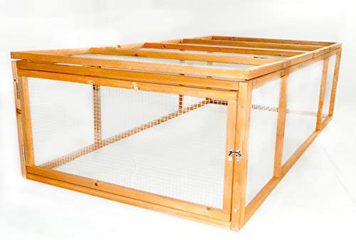 Charles Bentley – Jaula exterior para cobayas y conejos, con red protectora galvanizada: Amazon.es: Jardín