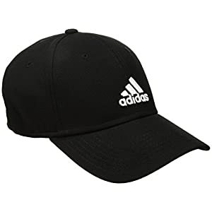 adidas Mens Rucker Stretch Fit Cap, Black/White, Large/X-Large