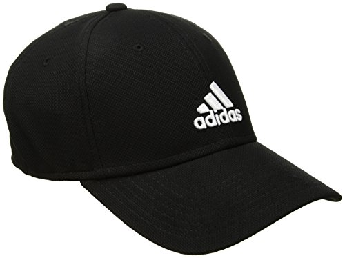 adidas Mens Rucker Stretch Fit Cap, Black/White, - Cap Stretch Lightweight