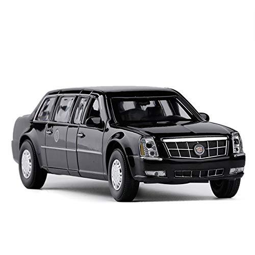 Cadillac Luxury Car Presidential Diecast Metal Car Models | High Simulation | Scale 1:32 |Colour Black with - Black Cadillac Model