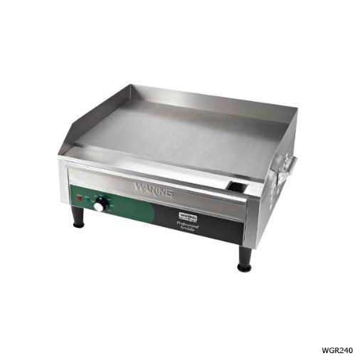 Waring Commercial WGR140 120-volt Electric Countertop Griddle, 14-Inch