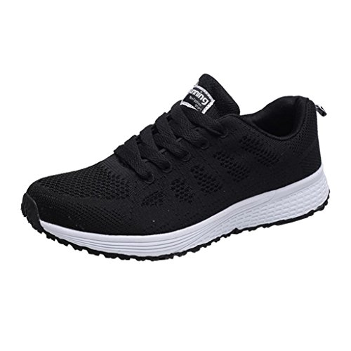 Schwarz Rondes Chaussures Mesh Chaussures Chaussures de Chaussures Sangles de de Croix de de amp; Upxiang Plates Loisirs Femme Paire Course Sport Sport Homme Frauen Running qwTSxfta