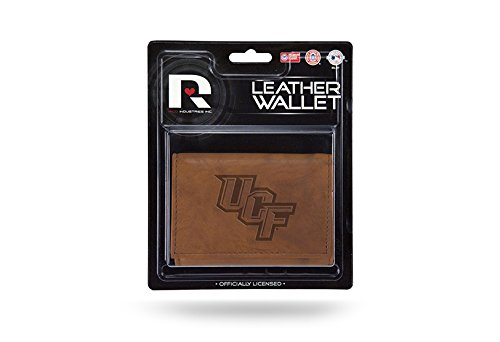 Rico NCAA UCF Knights Leather Trifold Wallet with Man Made Interior by Rico