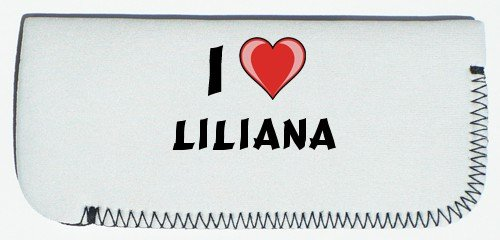first name//surname//nickname Shopzeus Glasses Case with I Love Liliana