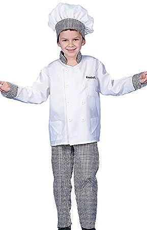 Dress up America - Disfraz de cocinero deluxe para niños, talla S ...