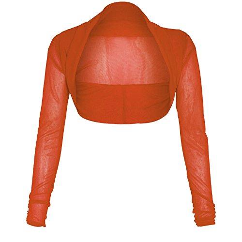 Bolero de manga larga para mujer, tallas 36 a 50 Rust