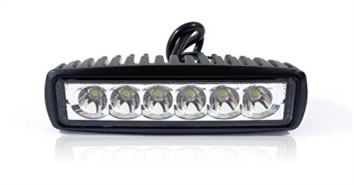 GENSSI 18W LED 6 Inch Light Bar Module Off Road Auxiliary Spot Light White 6000K