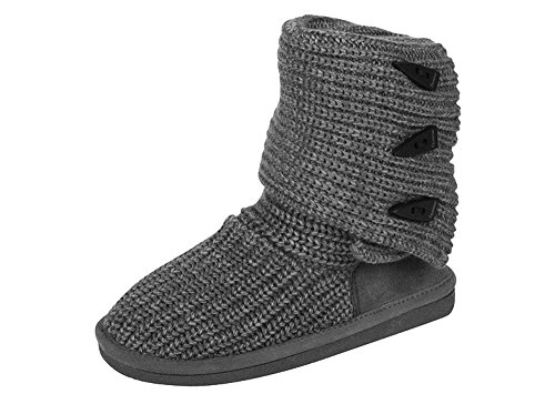 Womens Bearpaw Tricot Grand Gris (12)