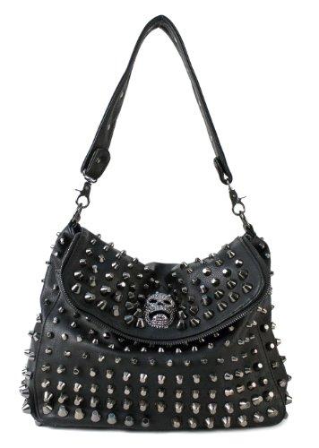 Scarleton Studded Skull Shoulder Bag H141701 - (Studded Purse)