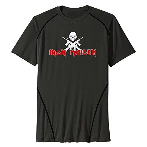 UNTOO Men's Iron Maiden Athletic Active Dri-Fit T-Shirt Black
