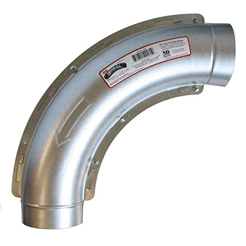 Long Turn 90 Degree Dryer Elbow 4 Inch 10in Radius