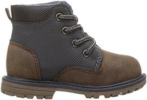 Brown//Grey OshKosh BGosh Murphy Boys Lace Up Boot Combat 10 M US Toddler