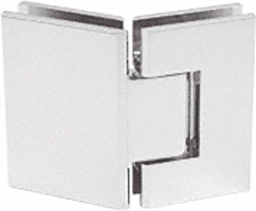 CRL Geneva 345 Series Satin Chrome Adjustable 135176; Glass-to-Glass Hinge