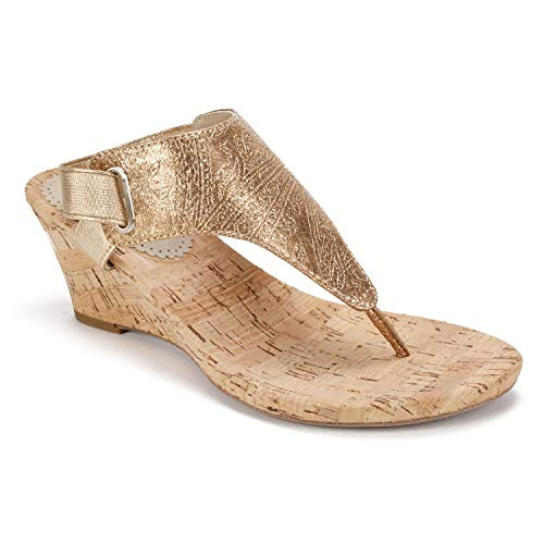 's All Good Wedge Sandal Gold Metallic Paisley 9 M US ()