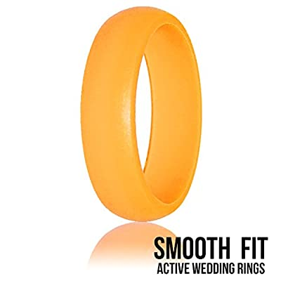 Comfortable, True Size, Womens Silicone Wedding Ring - Set of 3 - Premium Medical Grade - From Smooth Fit