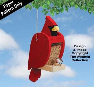 Cardinal Bird Feeder Pattern - Cardinal Wood Feeder