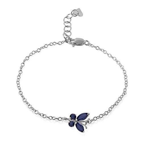Galaxy Gold 14k White Gold Sapphire Butterfly Bracelet