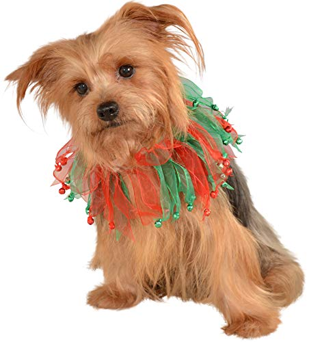 - Rubie's Christmas Pet Collar, Small to Medium, Red and Green Bells