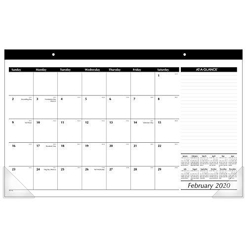 AT-A-GLANCE 2020 Desk Calendar, Desk Pad, 17-3/4