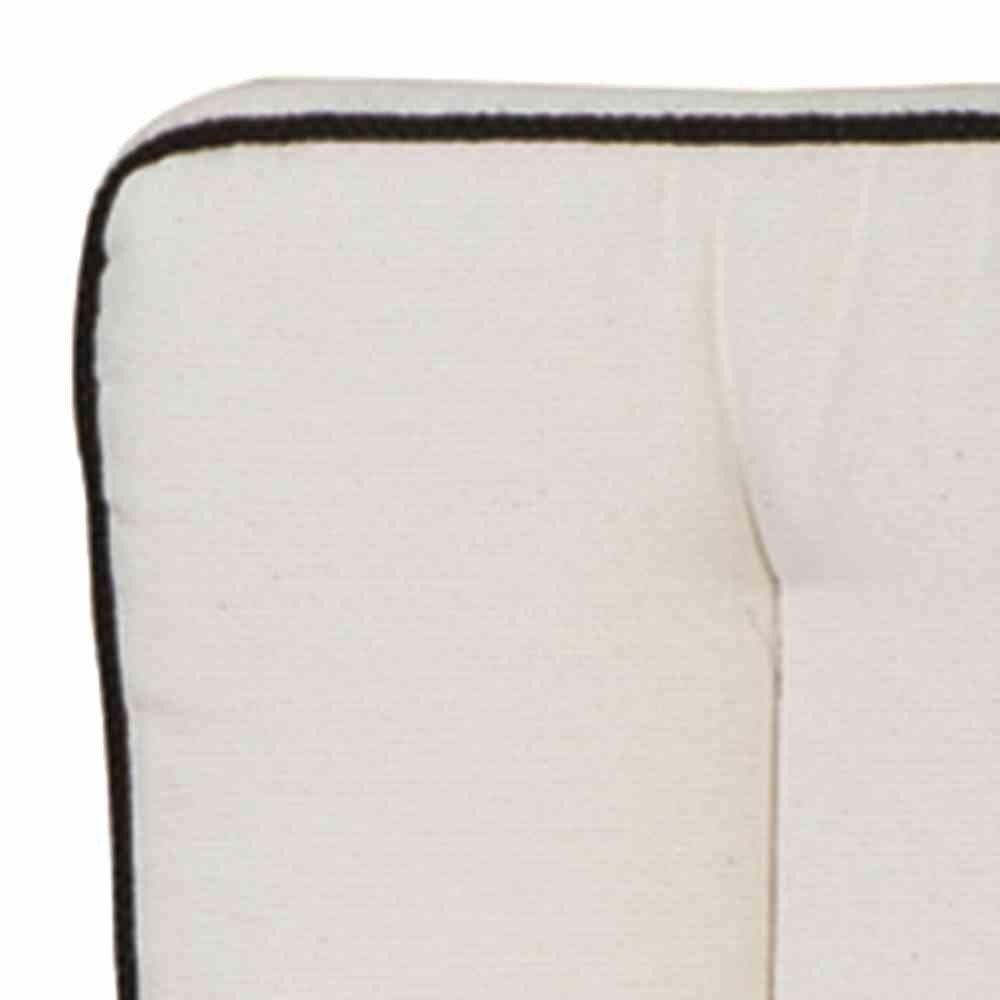 MBM 156161 Auflage Romeo Elegance, Sitz- und Rückenkissen zu 3-er Bank, natur