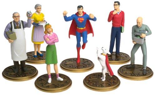 7 Piece Pvc Figure (Smallville Superboy Superman Seven Piece PVC Figure Set)