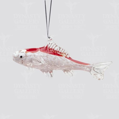 Hand Crafted Glass Christmas Tree Ornament or Figurine, Koi Fish