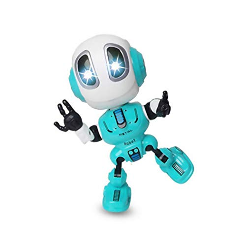 Orland Kids Voice Recording and Voice Changer Intelligent Robot,360 Rotating with Lights & Music,Best Early Educational Development Gift, Christmas Year and Birthday Gift (Blue)