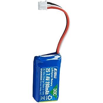 E-flite 280mAh 2S 7.4V 30C LiPo Battery