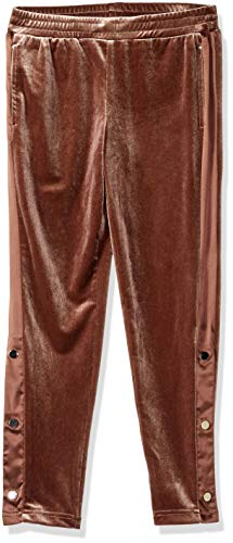 GUESS Girls' Big Velour Pant, Rosy Brown, ()
