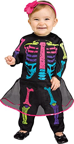 Baby Color Bones Skeleton Infant Costume