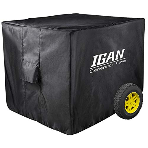 IGAN Premium Waterproof Generator Cover, Heavy Duty 1680D Marine Grade Polyester | Universal Fit | 31 x 24 x 23 inch | UV & Mold Protection | Compatible with Most 4000w-12000w Portable Generators