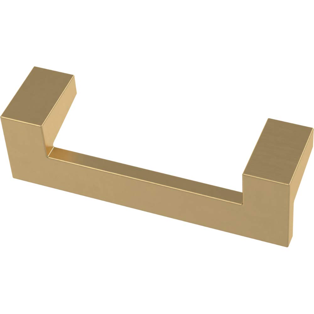 Franklin Brass P40835K-117-C Mirrored Kitchen or Furniture Cabinet Hardware Drawer Handle Pull, 3-Inch (76mm), Brushed Brass, 10-Pack