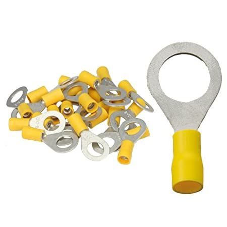 10 isol Ringkabelschuhe gelb M10 4,0 bis 6,0 mm/²
