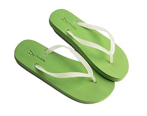 unisex Eu antiscivolo Verde luminose Sandali Pantofole Clip Taglia Infradito casuali Spiaggia Colore Perizoma 44 puro Pantofole Moda 35 Toe freddi Onfly Impermeabile Coppia UxqFpwa