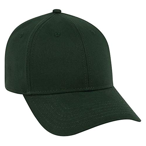 OTTO Ultra Fine Brushed Cotton Twill 6 Panel Low Profile Baseball Cap - Dk. Green